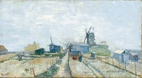 Vincent van Gogh's Vegetable Gardens and the Moulin de Blute-Fin on Montmartre is an oil on canvas (17-3/4 x 32 inches) that is housed in the Van Gogh Museum in Amsterdam.