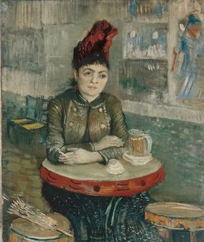 Vincent van Gogh's Agostina Segatori Sitting in the Café du Tambourin is an oil on canvas (21-3/4 x 18-1/4 inches) that is housed in the Van Gogh Museum in Amsterdam.