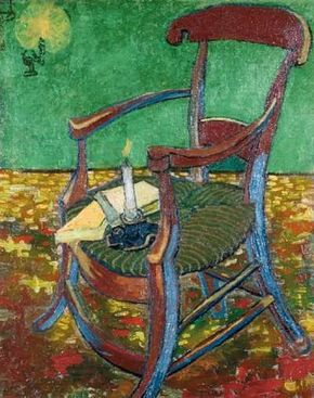 Vincent van Gogh's Gauguin's Chair (oil on canvas, 35-3/4x28-1/2 inches) is part of the Van Gogh Museum in Amsterdam.
