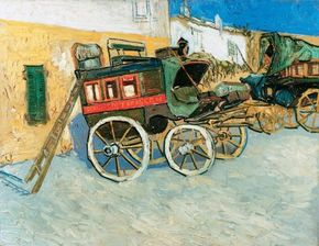 Vincent van Gogh's Tarascon Dilegence (oil on canvas, 28-1/4x36-1/4 inches) is owned by the Henry and Rose Pearlman Foundation in New York.