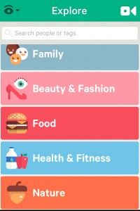 Vine's explore option sorts content for you by category. If nature's your thing, select that option to watch all available nature Vines.