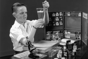 Educational chemistry sets have come a long way since the 1950s.