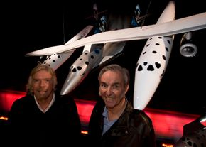Sir Richard Branson (left) and Bert Rutan, the brains behind Virgin Galactic. See more space tourism pictures.