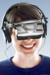 A lightweight head-mounted display