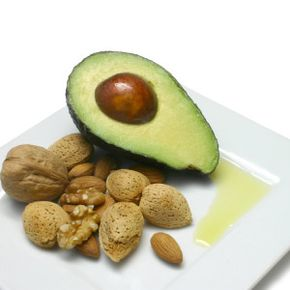 Avocado, nuts, and vegetable oil are natural sources of vitamin E.