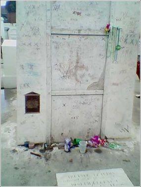 The burial site of Haitian Voodoo leader Marie Laveau