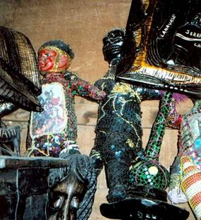 Voodoo ritual objects for sale in Port-au-Prince, Haiti