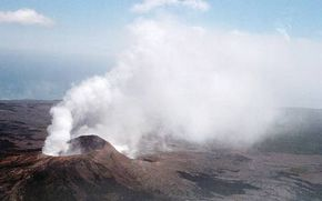 Your stomach won't blow quite like this volcano, but if it has too much gas, it will expand and begin to tear.