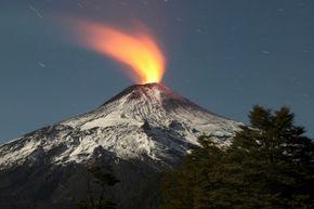 Chile's Villarrica Volcano is a stratovolcano.