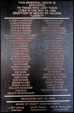 mount st helens disaster memorial