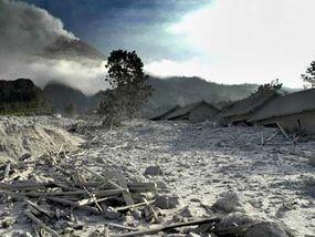 volcanic ash in central java
