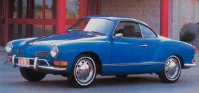 Karmann-Ghia styling changes were subtle, in the VW tradition. By the time this 1971 coupe was built, the car had wrap-around side marker lights.