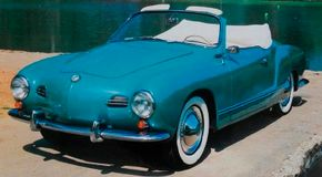 VW insisted performance of the Karmann-Ghia match that of the contemporary Beatle model, though the low-slung coupe had a higher top speed. The Karmann-Ghia convertible bowed in 1957.