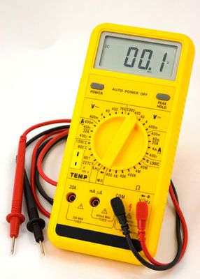A Volt-Ohm-Milliammeter, often called a multitester, can measure current on more than one scale.