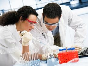 Researchers hard at work developing the drugs of tomorrow.