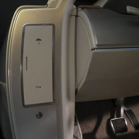 Space and storage are maximized throughout the YCC interior. A cinema-style rear seat makes room for storage.