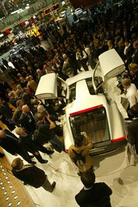 Volvo reveals the new Volvo YCC concept car at the Geneva Motor Show.