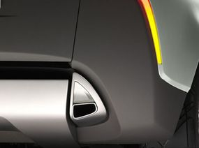 Volvo launches the new Volvo YCC concept car at the Geneva Motor Show. Even the exhaust pipe has a clean, stylish design.