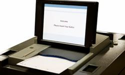One of the criticisms regarding electronic voting machines like this optical scanner is that the software they run could be hacked.
