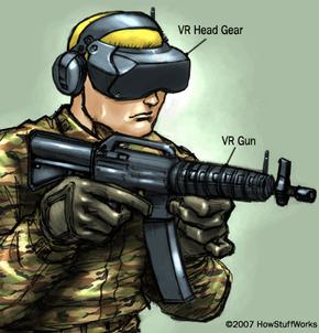 Virtual reality military training gear