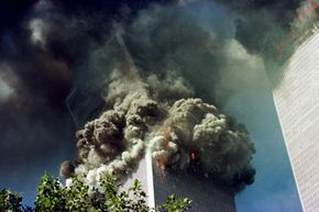 The south tower of the World Trade Center collapses on Sept. 11, 2001.