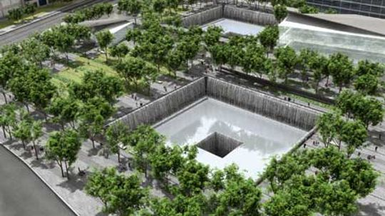 Why has the World Trade Center memorial been delayed?