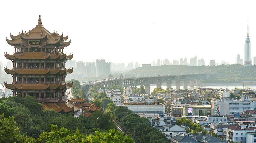 yellow crane tower in wuhan china