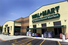 A Wal-Mart Neighborhood Market