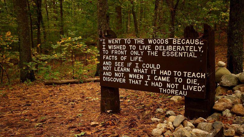 Cabin on Walden Pond Sign