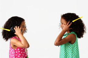 The basic components in kids' walkie-talkies are the same as the ones grown-ups use.