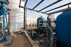 A desalination plant in Oman.  The process of desalinaton is expensive but the new process of DCMD promises to make it cheaper and more efficient.