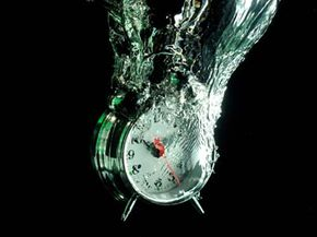 Just how can water power a timekeeping device? See more green science pictures.