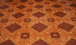 This beautiful floor is tiled in concrete.