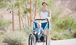 Exercising can reduce tension and give you more energy to keep up with your energetic children.