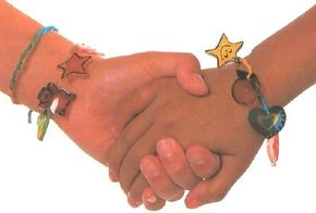Kids' bracelets are fun to make and share with friends.