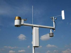 This professional weather station incorporates several key weather sensors on one mount.