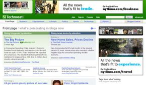 Technorati is a Web site that tracks and catalogs blogs.