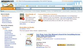 The Amazon Web siterepresents someWeb 2.0 concepts in features like its customer book reviews.