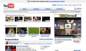 YouTube is an example of a Web 2.0 site