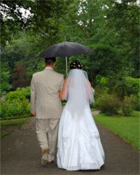 An umbrella isn't going to cut it as a backup plan if you're imagining an outdoor wedding.
