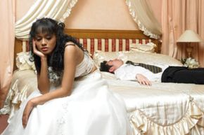 Feeling glum isn't what you want to be doing on your wedding night.