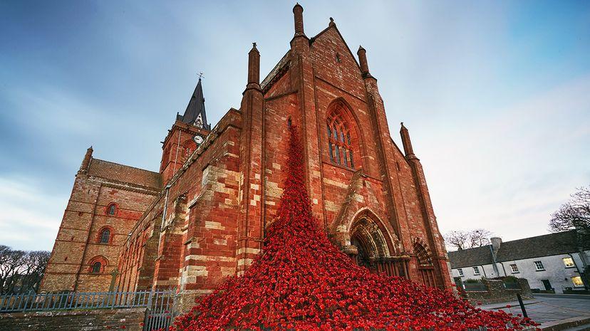 poppy sculpture St. Magnus Cathedral