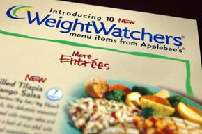 The Weight Watchers Diet helps people set realistic expectations by assigning points to all sorts of foods, including restaurant food. This Applebee's menu lists entrees with Weight Watchers points to make eating out while dieting a guilt-free experience.