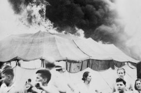 The 1944 circus tent fire proved fatal for many spectators and circus animals.