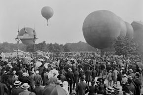 In the 19th century, hot air balloon ascents were exciting feats of flight.