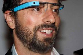 Google founder Sergey Brin poses for a portrait wearing Google Glasses. The virtual keyboard would solved the problem of sending a message without having a hand-held device handy.