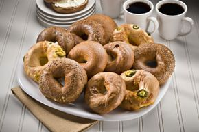 No longer just for morning meetings, bagels get a seat at the turkey table.