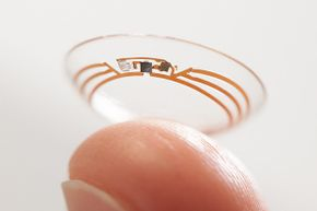 Google and Novartis are working on a contact lens that continually monitors the wearer's blood sugar levels.