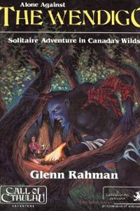 Cover of a paperback showing an illustration of a wendigo.