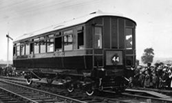 This North Eastern Railway autocar, built in 1923, was fitted with a Westinghouse airbrake.
